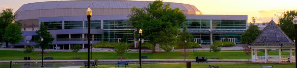 The Ozark Civic Center shuttles
