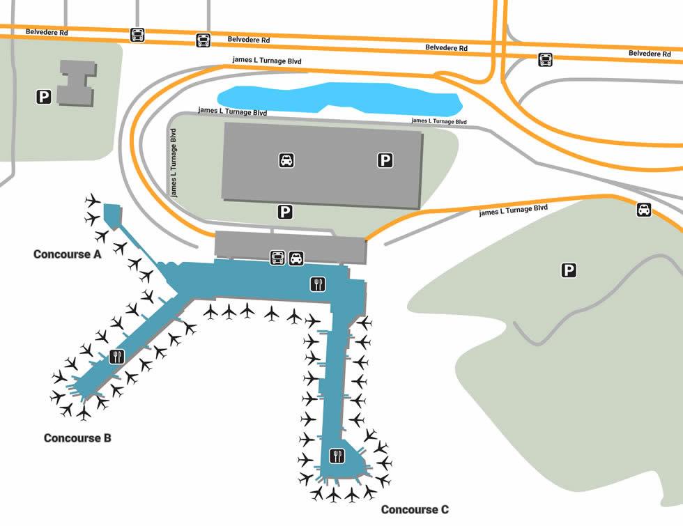 PBI airport terminals