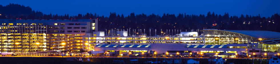 Portland PDX shuttles in terminals