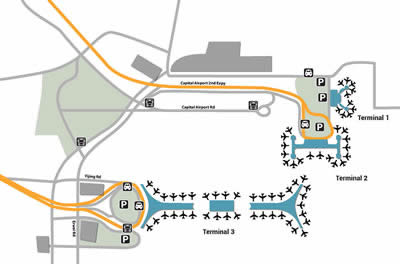 PEK airport terminals