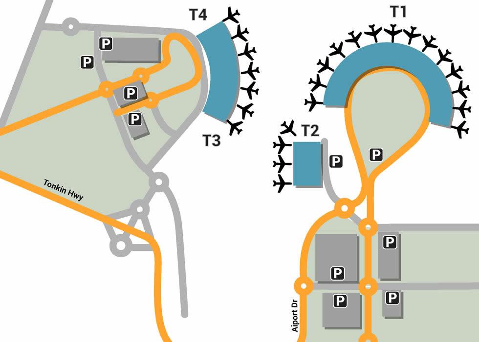PER airport terminals
