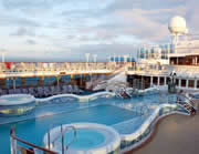 Cruise ship swimming pools