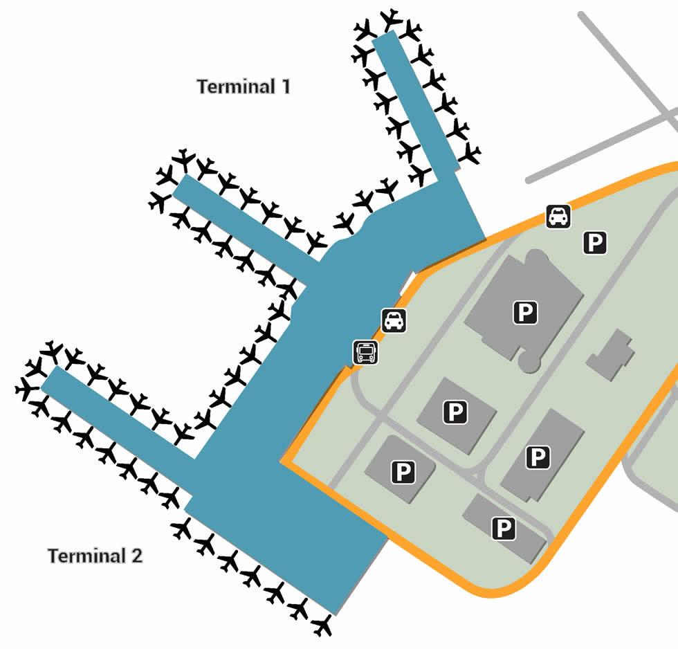 PRG airport terminals