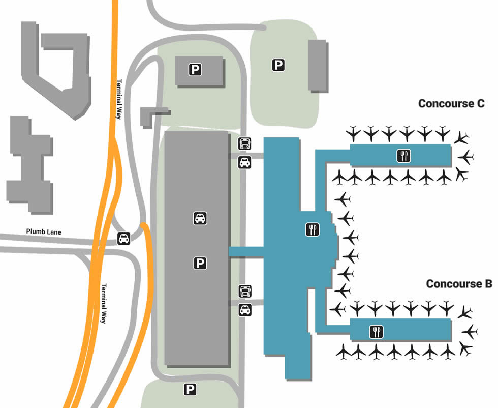 RNO airport terminals