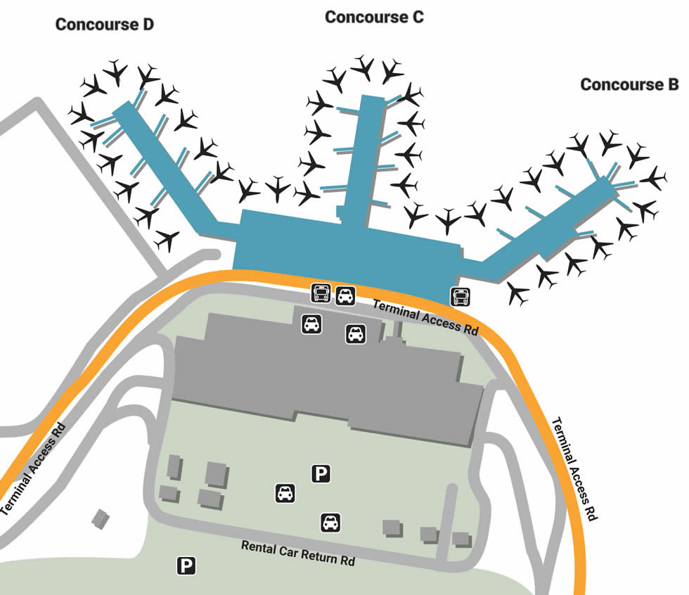 ft myers airport map Rsw Airport Pick Up And Drop Off ft myers airport map