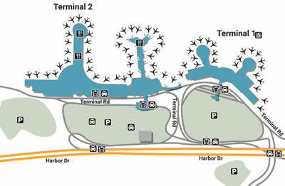 SAN airport terminals