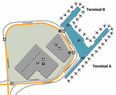 SAT airport terminals