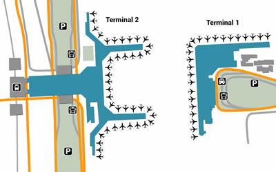 SHA airport terminals