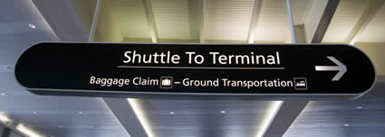 Shuttles to airport terminals