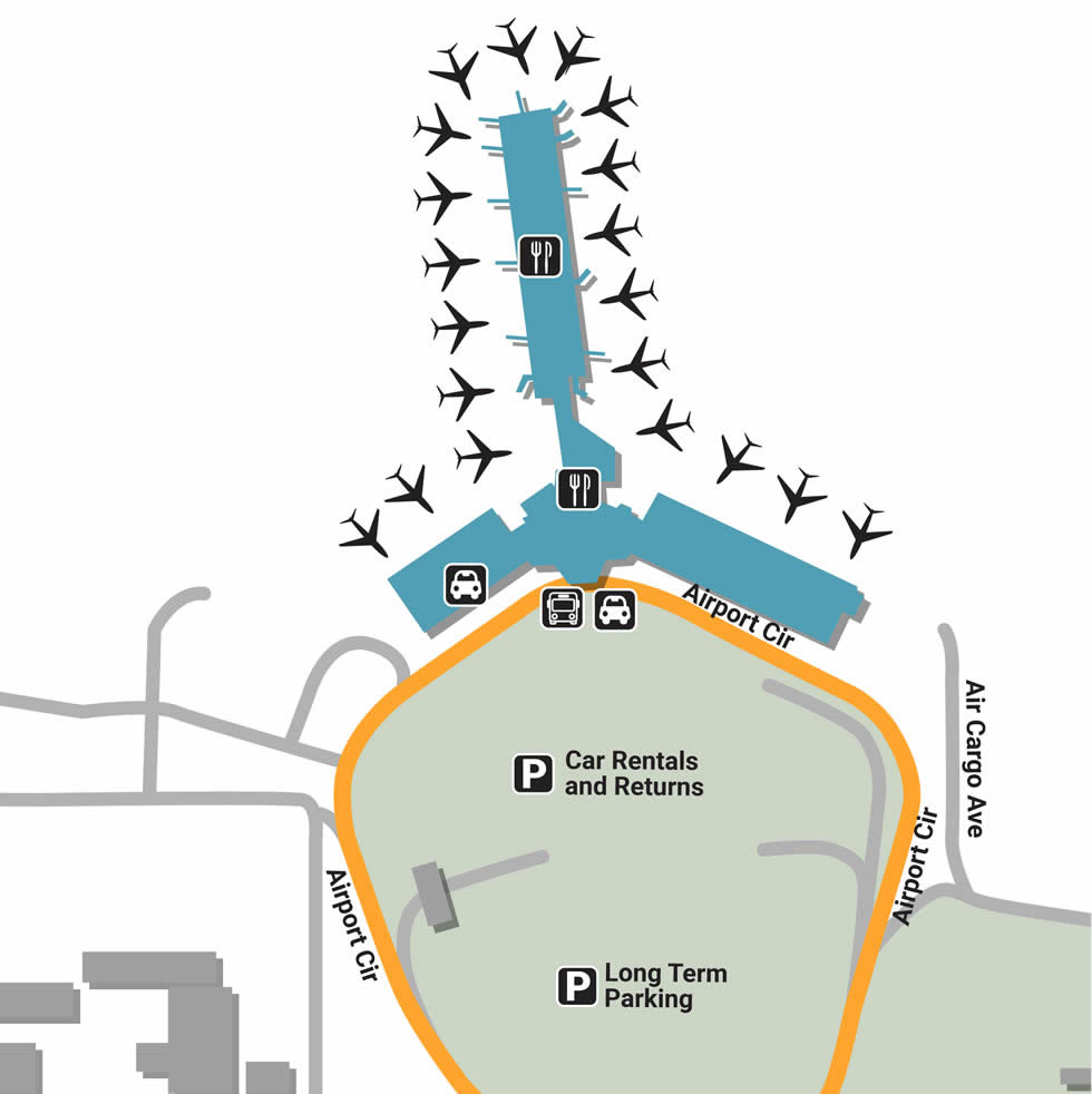 Srq airport pick up and drop off srq airport terminals pooptronica Choice Image
