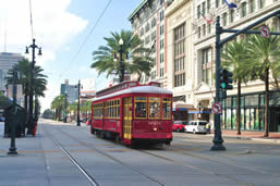 Streetcars in New Orleans