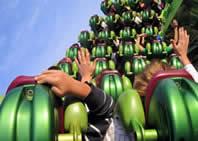 Thrilling roller coaster rides