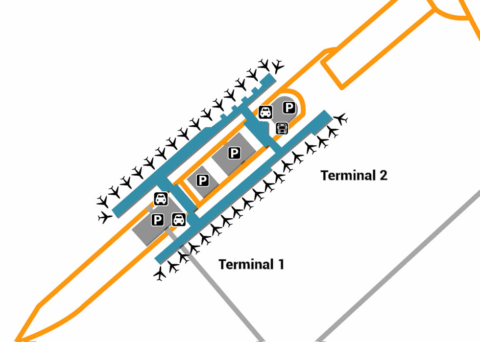 TPE airport terminals