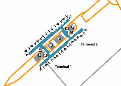TPE airport terminals