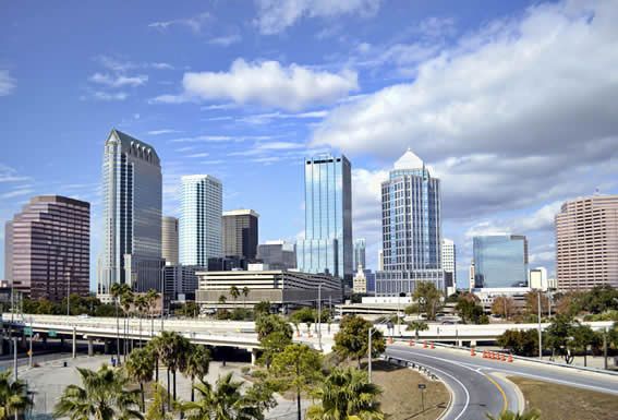 Drop off near downtown Tampa