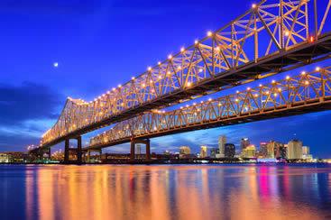 Rides over I-10 Twin Span Bridge