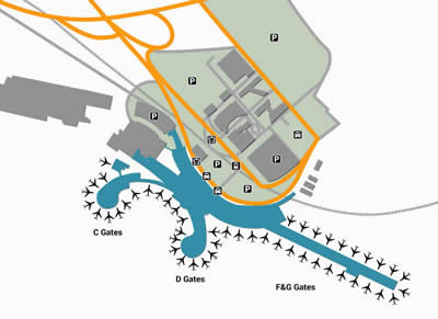 VIE airport terminals