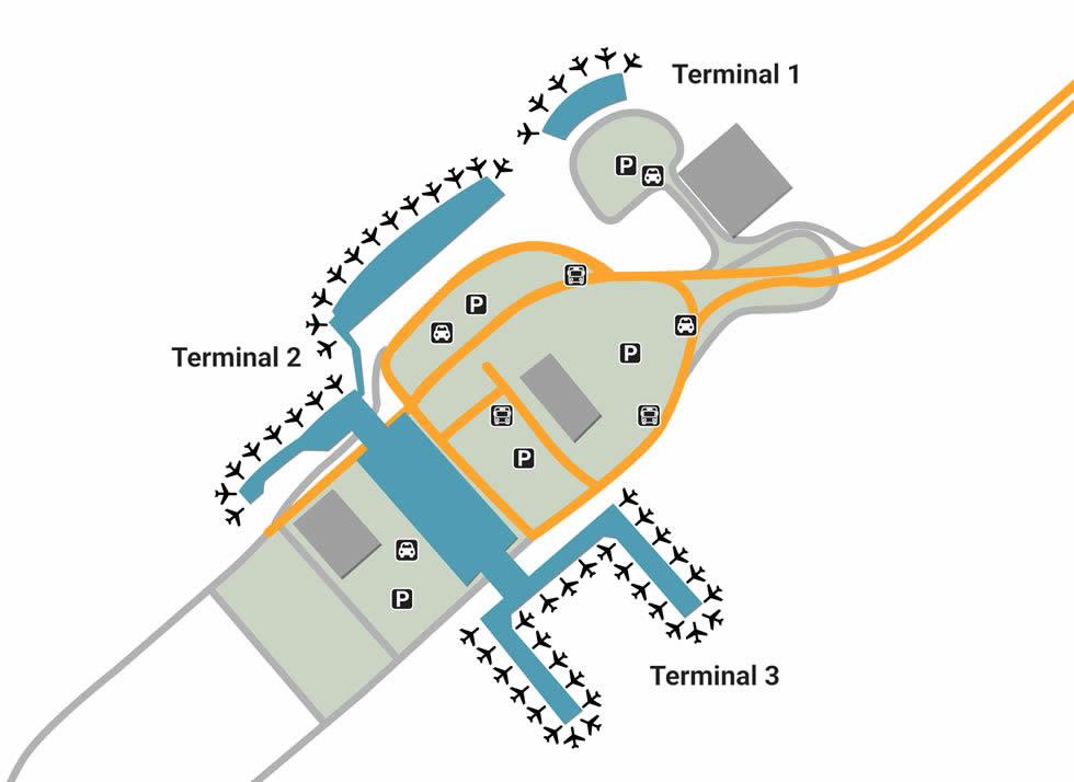 XIY airport terminals
