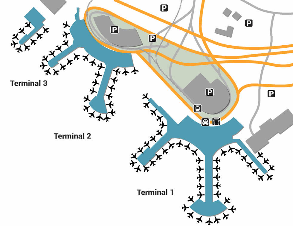 YYZ airport terminals