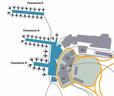 ZRH airport terminals