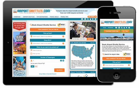 Airport Shuttles Mobile Apps