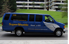 SuperShuttle Super Shuttle & Blue Van